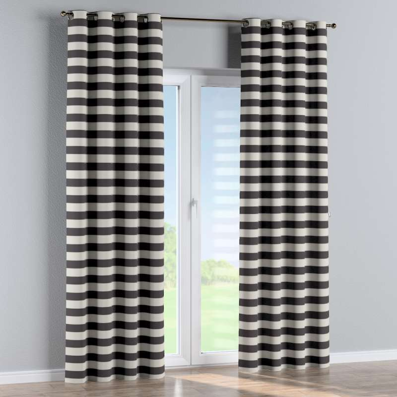 Eyelet curtain in collection Quadro, fabric: 142-72