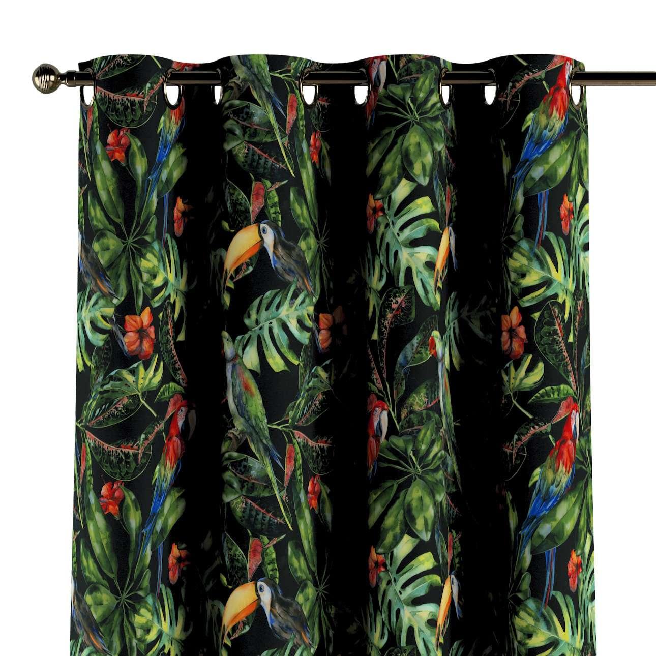 Zasłona na kółkach 1 szt. w kolekcji Velvet, tkanina: 704-28