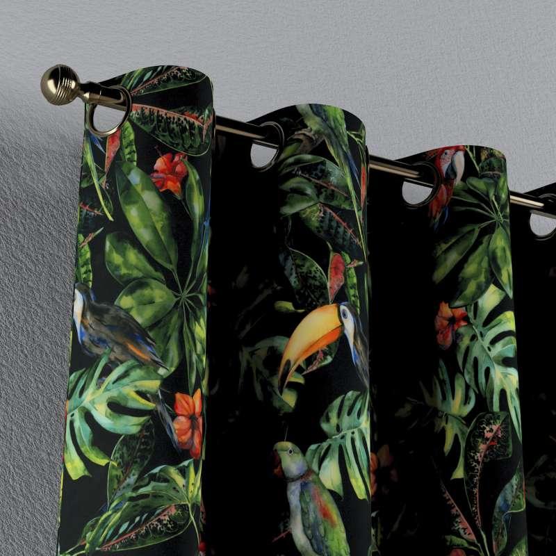 Gardin med øskner 1 stk. fra kollektionen Velvet, Stof: 704-28