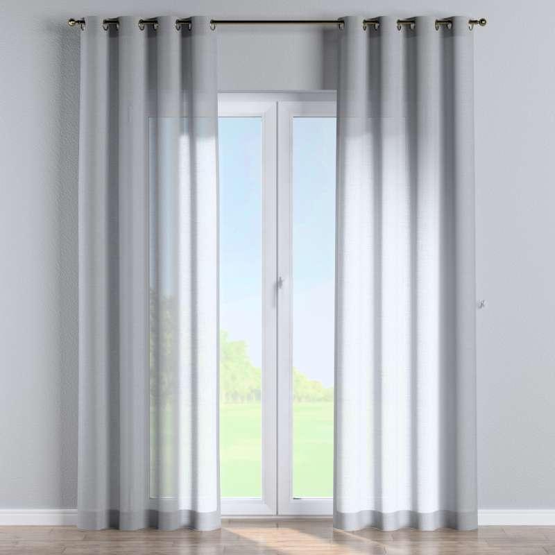 Gardin med öljetter 1 längd i kollektionen Romantica, Tyg: 142-90