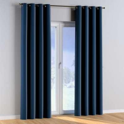 Závěs s průchodkami 1 ks 704-29 námořnická modrá Kolekce Posh Velvet