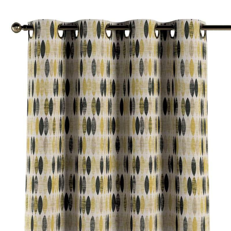 Gardin med öljetter 1 längd i kollektionen Modern, Tyg: 142-99