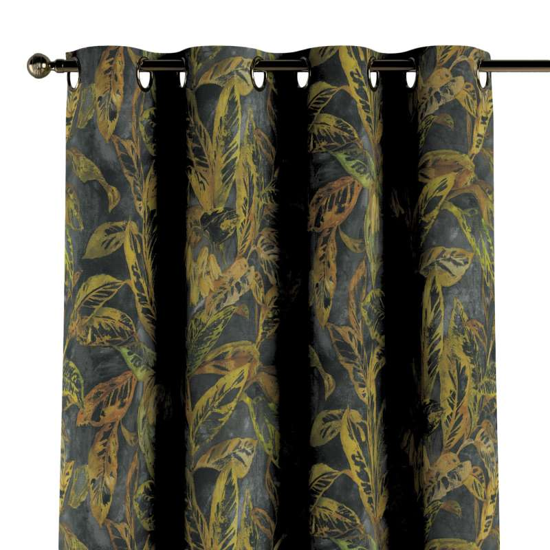 Ringlis függöny a kollekcióból Abigail, Dekoranyag: 143-01