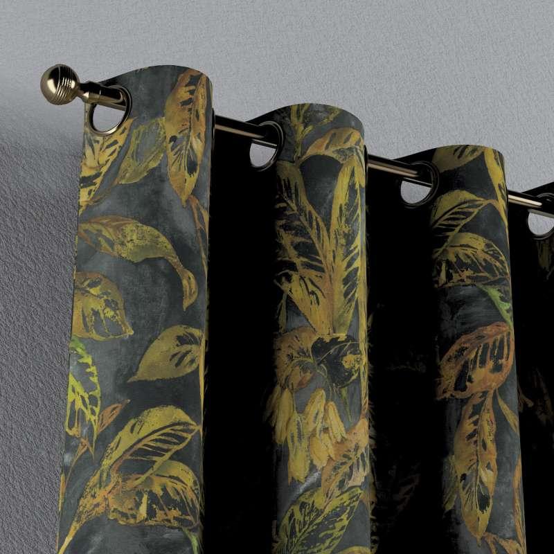 Gardin med öljetter 1 längd i kollektionen Abigail, Tyg: 143-01