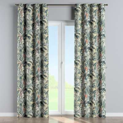 Eyelet curtain 143-08 blue-green-beige Collection Abigail