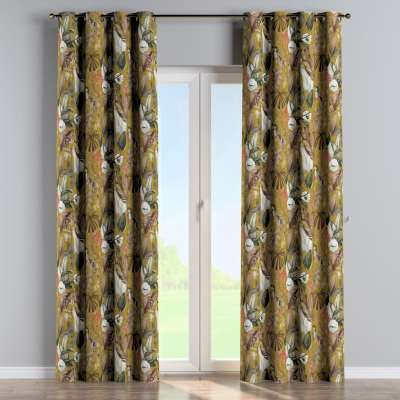 Eyelet curtain 143-09 mustard-green Collection Abigail
