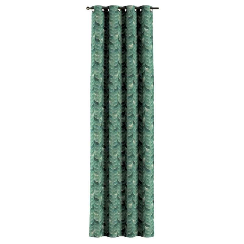 Gardin med öljetter 1 längd i kollektionen Abigail, Tyg: 143-16