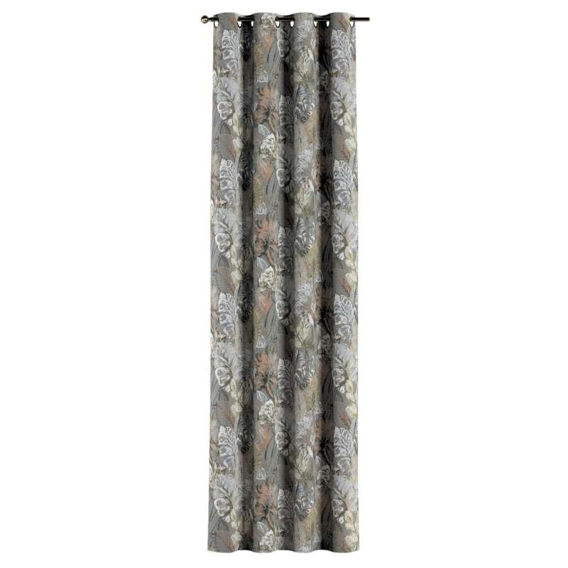 Gardin med öljetter 1 längd i kollektionen Abigail, Tyg: 143-19
