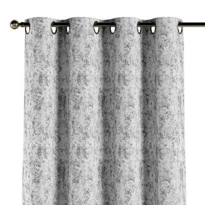 Ösenschal 704-49 grau-weiß Kollektion Velvet