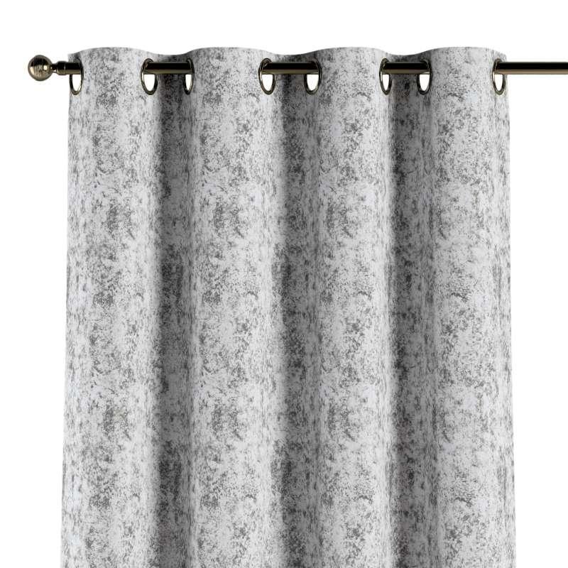 Gardin med öljetter 1 längd i kollektionen Velvet, Tyg: 704-49
