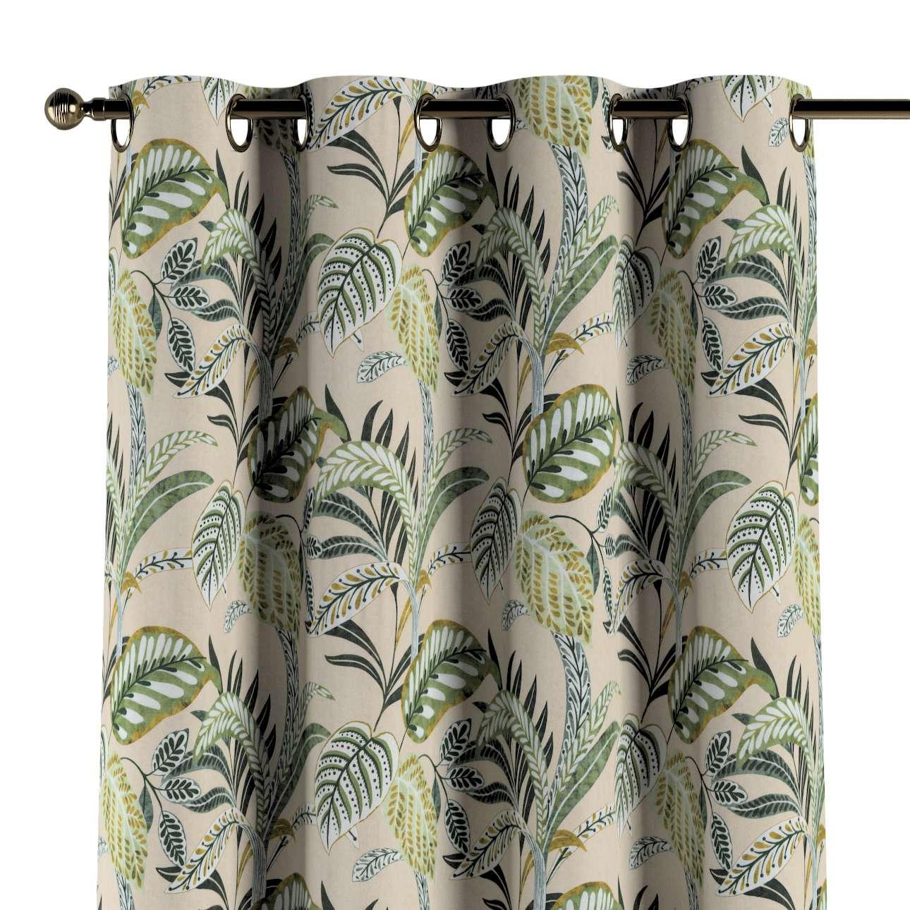 Zasłona na kółkach 1 szt. w kolekcji Tropical Island, tkanina: 142-96