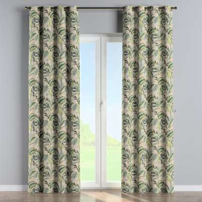 Eyelet curtain 142-96 olive-green-beige Collection Tropical Island