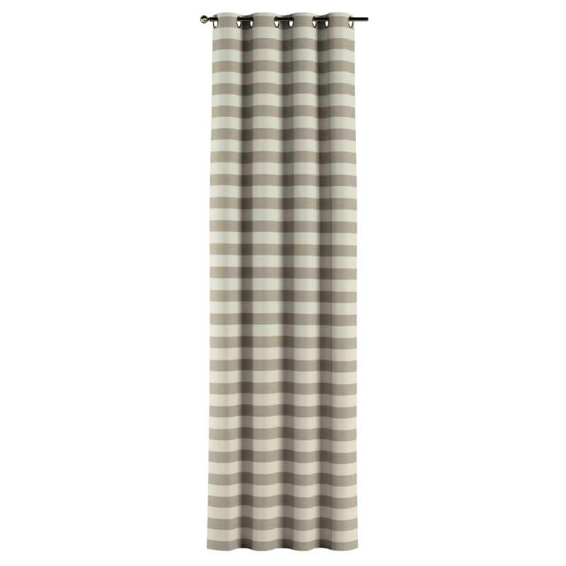 Gardin med öljetter 1 längd i kollektionen Quadro II, Tyg: 142-73