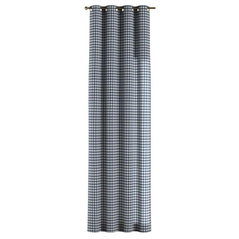 Gardin med öljetter 1 längd i kollektionen Quadro II, Tyg: 136-01