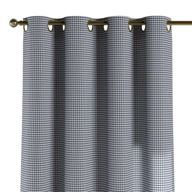 Gardin med öljetter 1 längd i kollektionen Quadro II, Tyg: 136-00