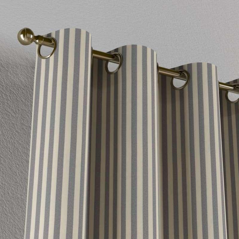 Gardin med öljetter 1 längd i kollektionen Quadro II, Tyg: 136-02