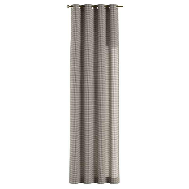 Gardin med öljetter 1 längd i kollektionen Quadro II, Tyg: 136-10