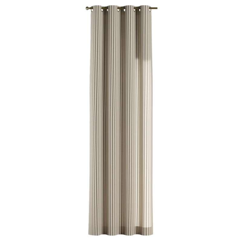 Gardin med öljetter 1 längd i kollektionen Quadro II, Tyg: 136-12