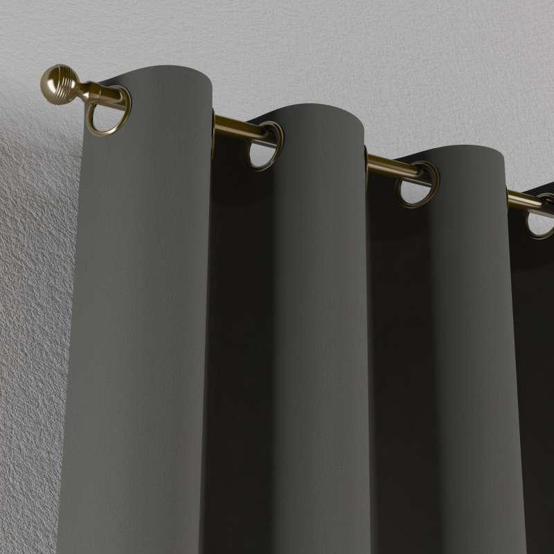 Gardin med øskner 1 stk. fra kollektionen Quadro II, Stof: 136-14