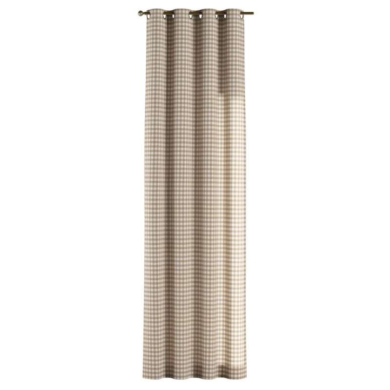 Gardin med öljetter 1 längd i kollektionen Quadro II, Tyg: 136-06