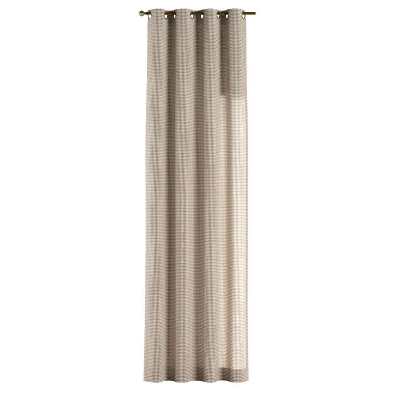 Gardin med öljetter 1 längd i kollektionen Quadro II, Tyg: 136-05