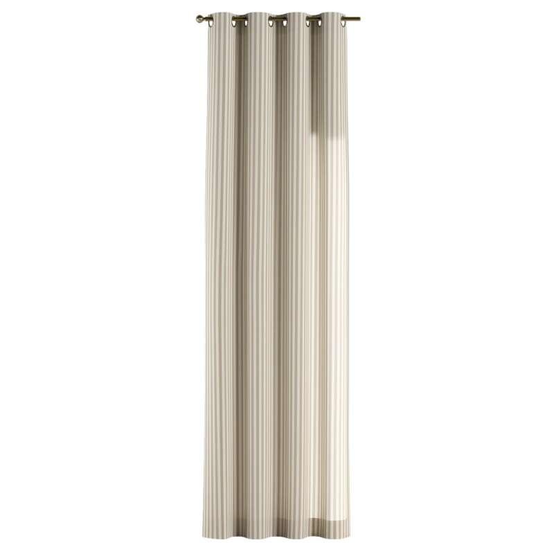 Gardin med öljetter 1 längd i kollektionen Quadro II, Tyg: 136-07