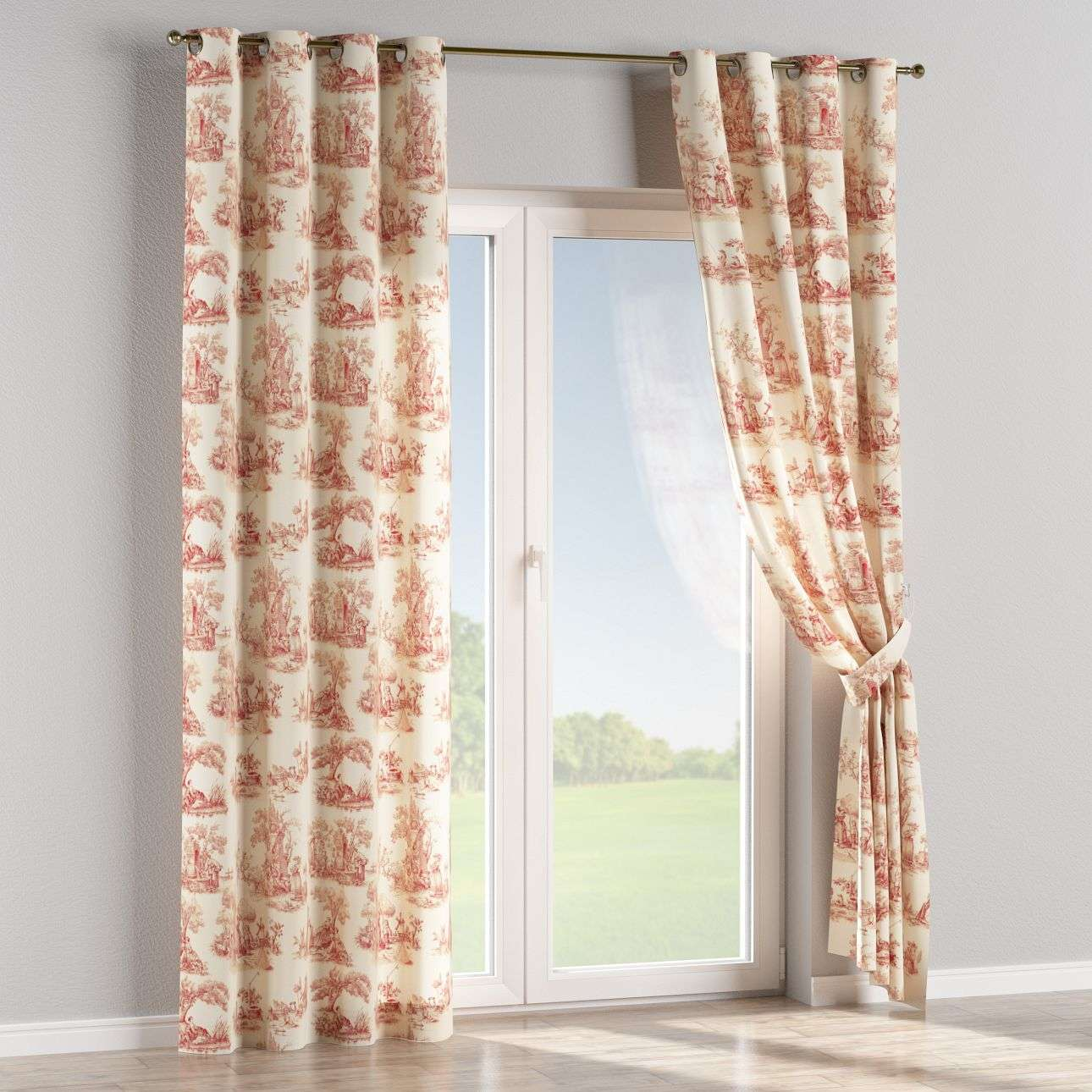 Eyelet curtains 130 x 260 cm (51 x 102 inch) in collection Avinon, fabric: 132-15