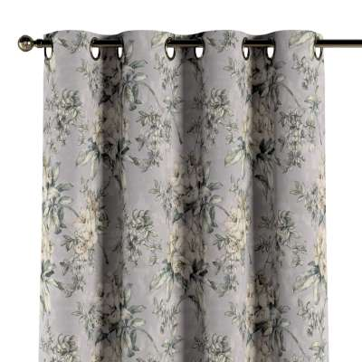 Eyelet curtain 143-36 beige-olive-gray Collection Londres