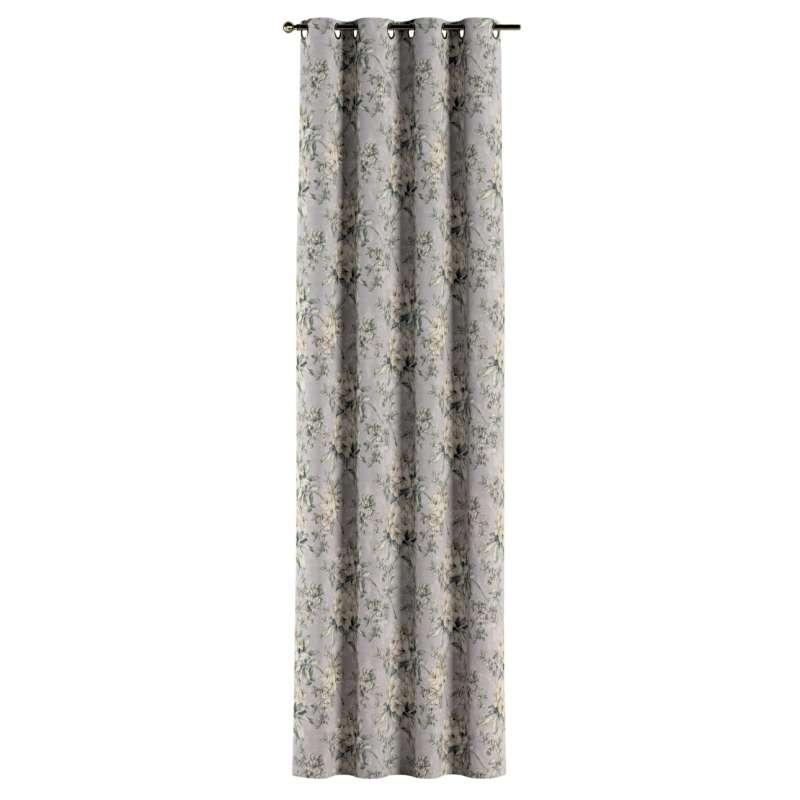 Gardin med öljetter 1 längd i kollektionen Londres, Tyg: 143-36