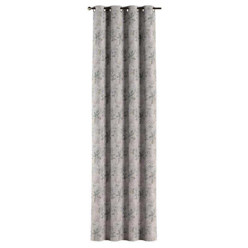 Gardin med öljetter 1 längd i kollektionen Londres, Tyg: 143-37