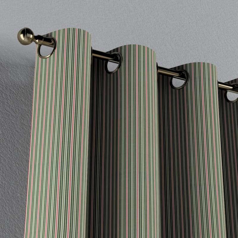 Gardin med öljetter 1 längd i kollektionen Londres, Tyg: 143-42