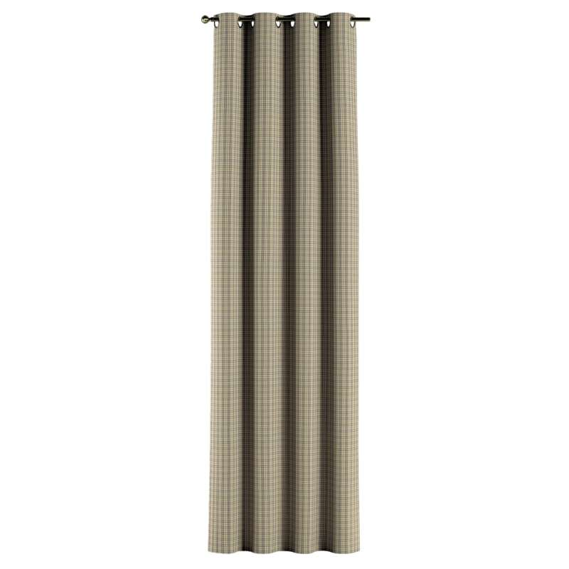 Gardin med öljetter 1 längd i kollektionen Londres, Tyg: 143-39