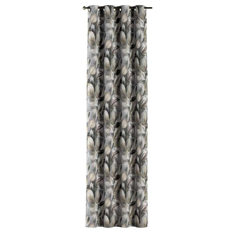 Gardin med öljetter 1 längd i kollektionen Abigail, Tyg: 143-60