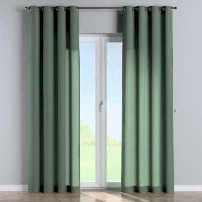 Eyelet curtain 159-08 subdued green Collection Linen
