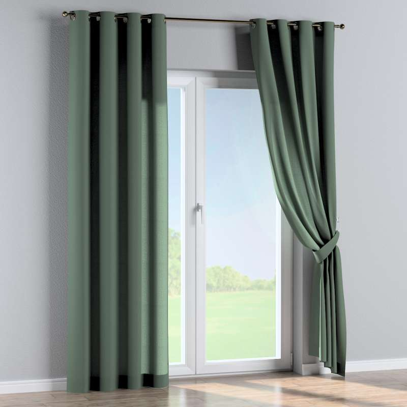 Eyelet curtain in collection Linen, fabric: 159-08