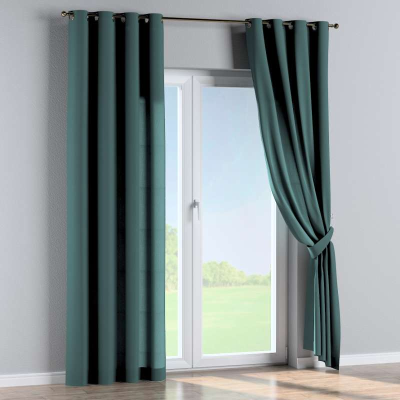 Eyelet curtain in collection Linen, fabric: 159-09