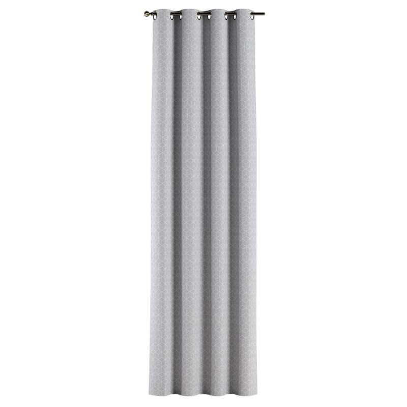 Gardin med öljetter 1 längd i kollektionen Sunny, Tyg: 143-50