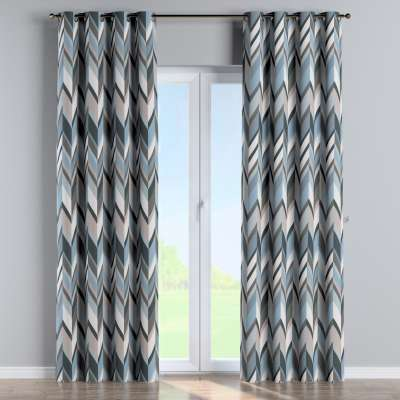 Eyelet curtain 143-54 blue-beige Collection Vintage 70's