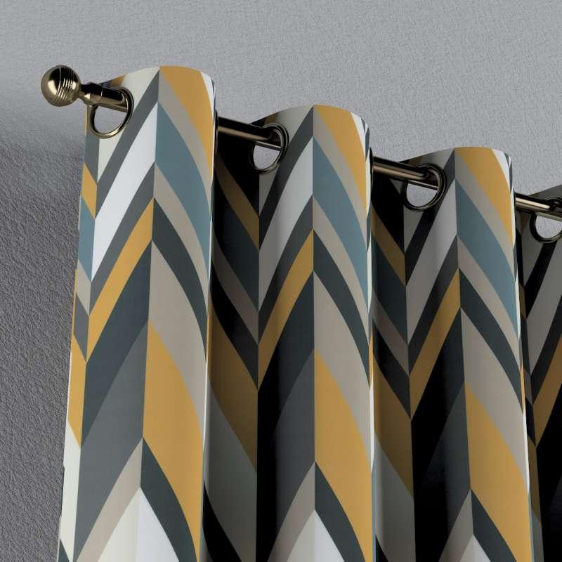 Záves s kolieskami V kolekcii Vintage 70's, tkanina: 143-56