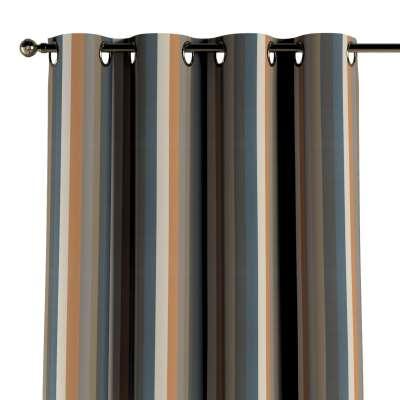 Zasłona na kółkach 1 szt. 143-58 kolorowe pasy w rudo-brązowo-niebieskiej kolorystyce Kolekcja Vintage 70's