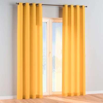Závěs s průchodkami 1 ks 133-40 slunečně žlutá Kolekce Happiness