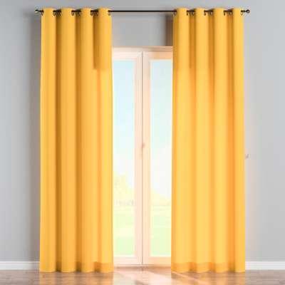 Závěs na kroužcích 133-40 slunečně žlutá Kolekce Loneta