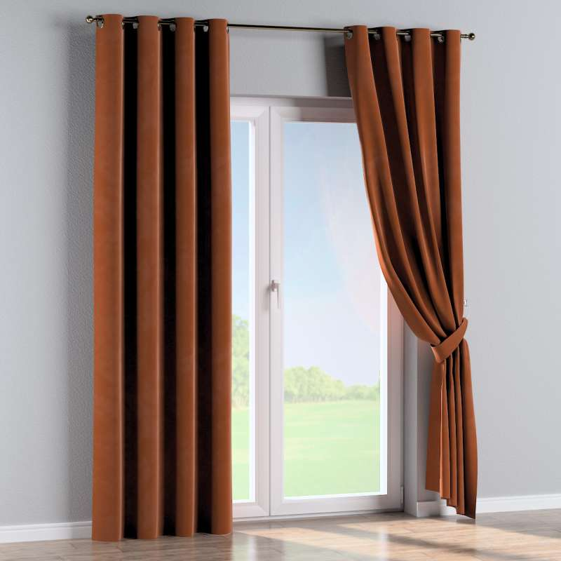 Eyelet curtain in collection Velvet, fabric: 704-33