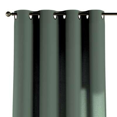 Žiedinio klostavimo užuolaidos 1 vnt. 159-08 žalias Kolekcija Nature -100% linas