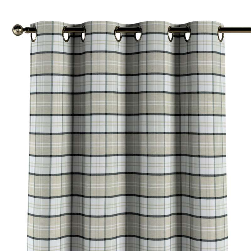 Gardin med öljetter 1 längd i kollektionen Bristol, Tyg: 143-64