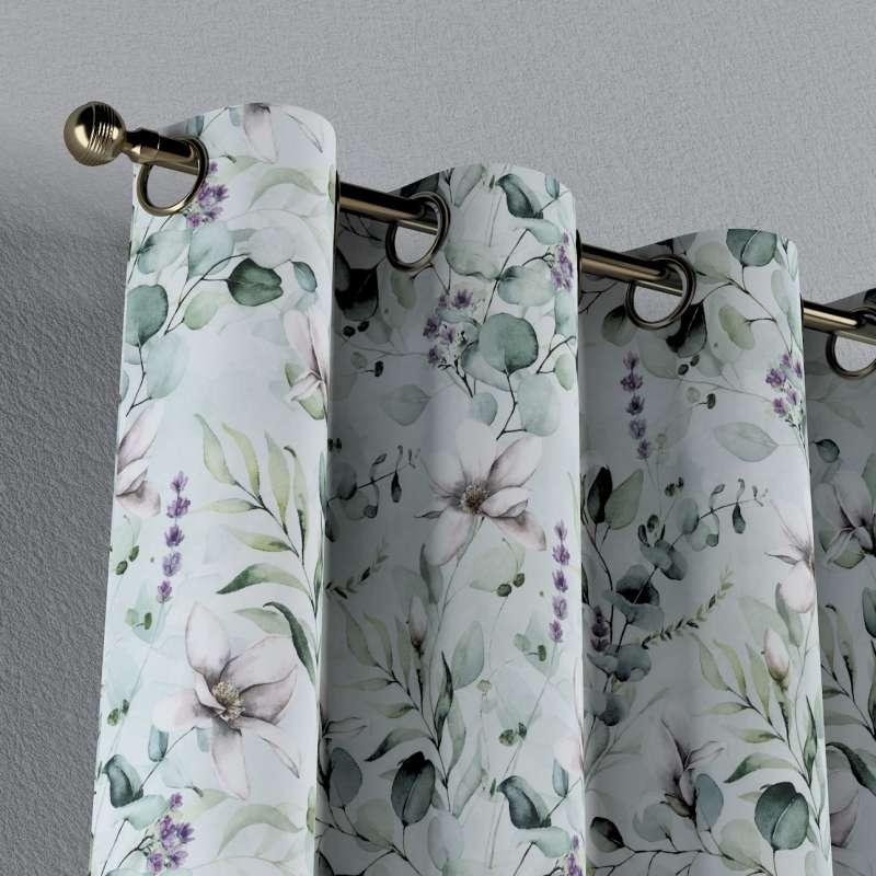Záves s kolieskami V kolekcii Flowers, tkanina: 143-66