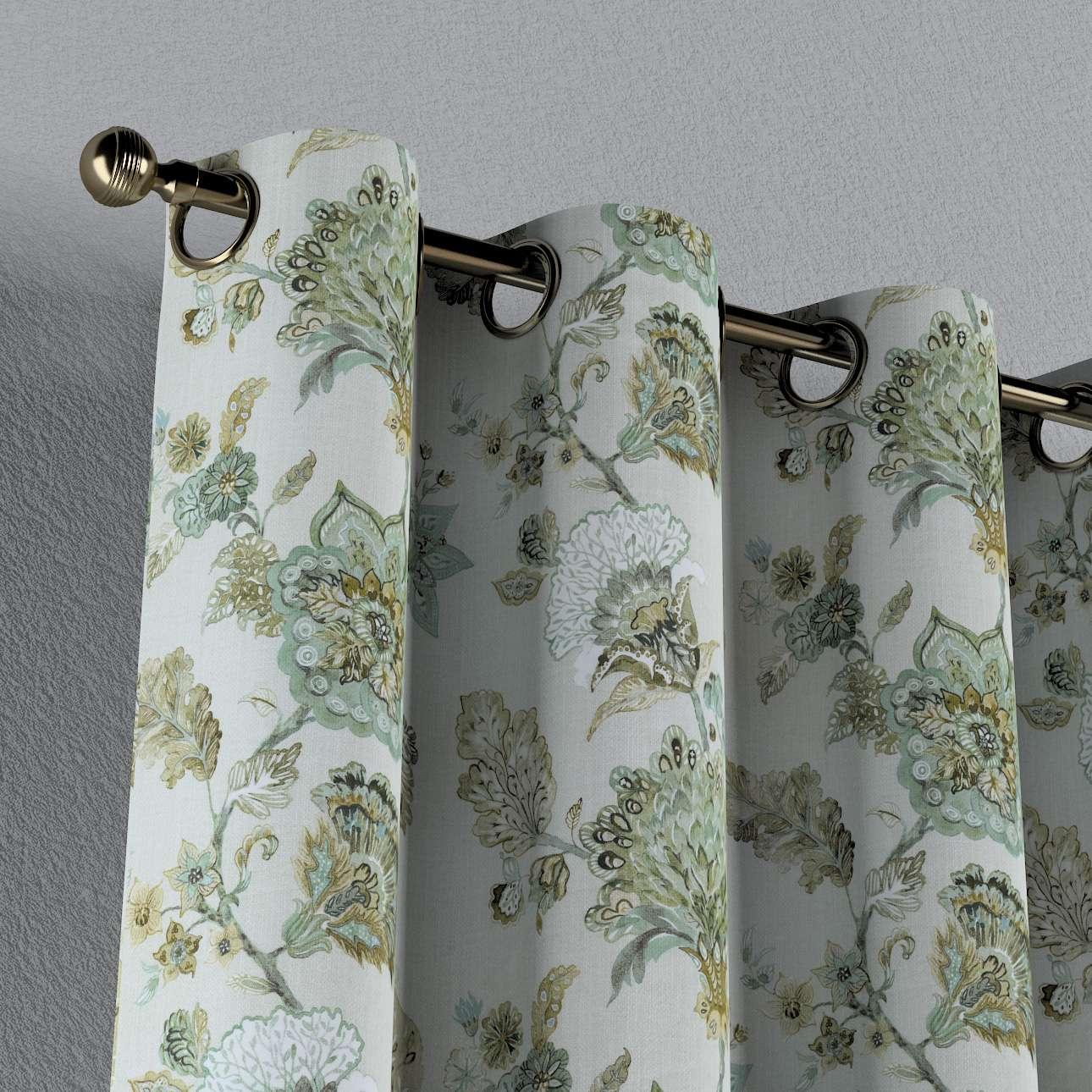 Zasłona na kółkach 1 szt. w kolekcji Flowers, tkanina: 143-67