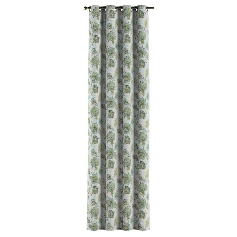 Záves s kolieskami V kolekcii Flowers, tkanina: 143-67