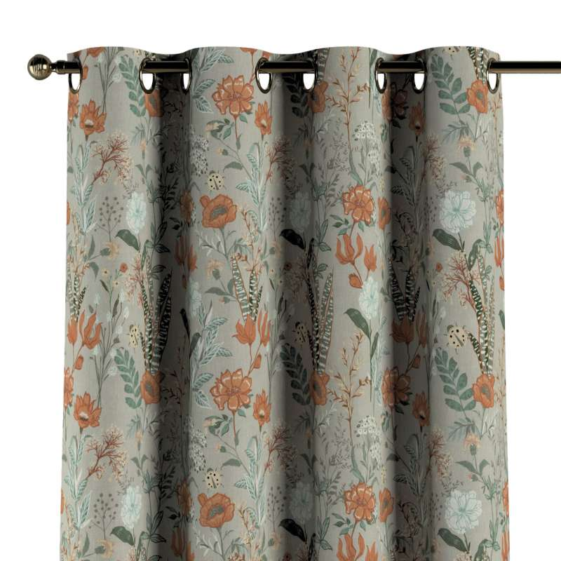 Záves s kolieskami V kolekcii Flowers, tkanina: 143-70