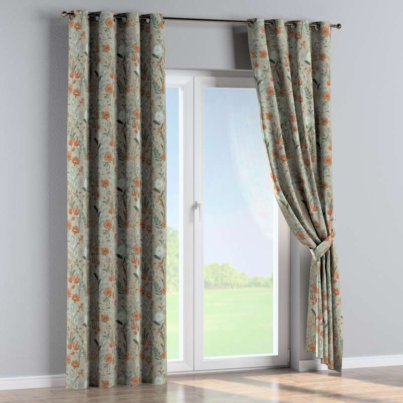 Eyelet curtain in collection Flowers, fabric: 143-70